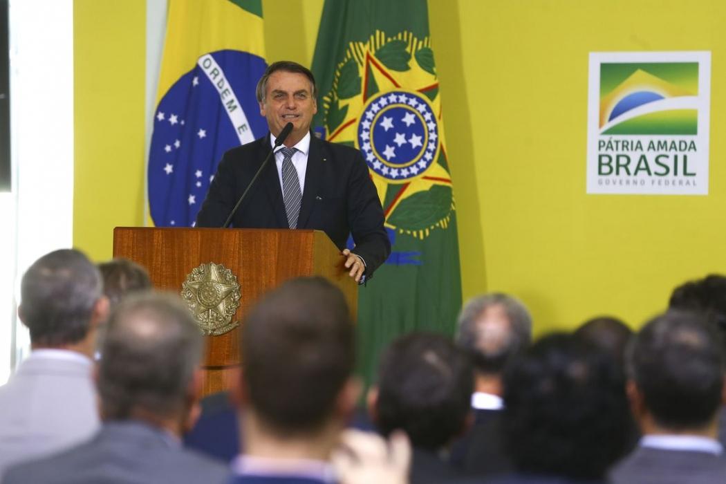 O presidente da República, Jair Bolsonaro, encaminhou o Orçamento de 2020 ao Congresso Nacional. Crédito: Valter Campanato/Agência Brasil