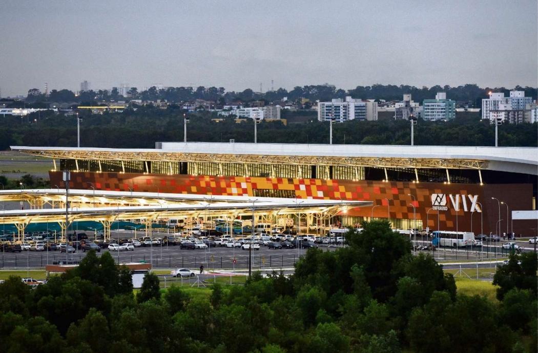 Fachada do novo Aeroporto de Vitória: local será administrado por empresa suíça. Crédito: Fernanda Madeira