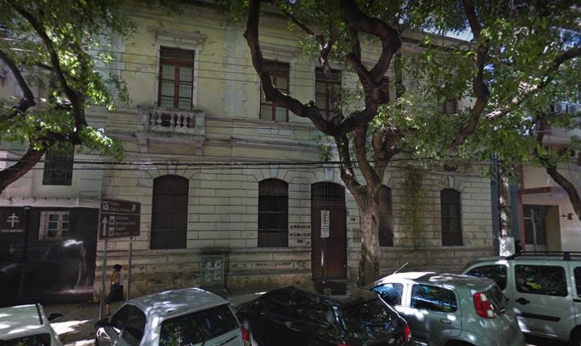 Antigo prédio do Arquivo Público do ES, na Rua Pedro Palácios, na Cidade Alta, no Centro de Vitória. Crédito: Google Street View