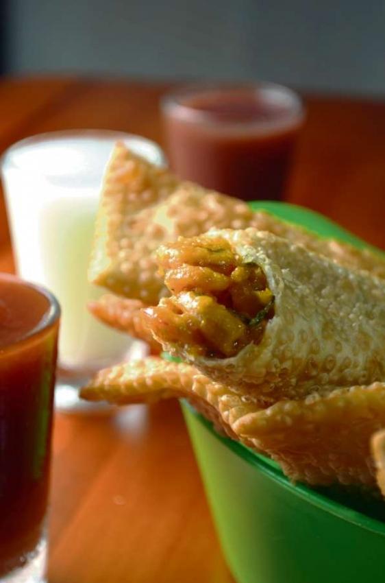 Pastel de camarão do Bar do Ceará, em Jucutuquara. . Crédito:  Ari Oliveira/Divulgação