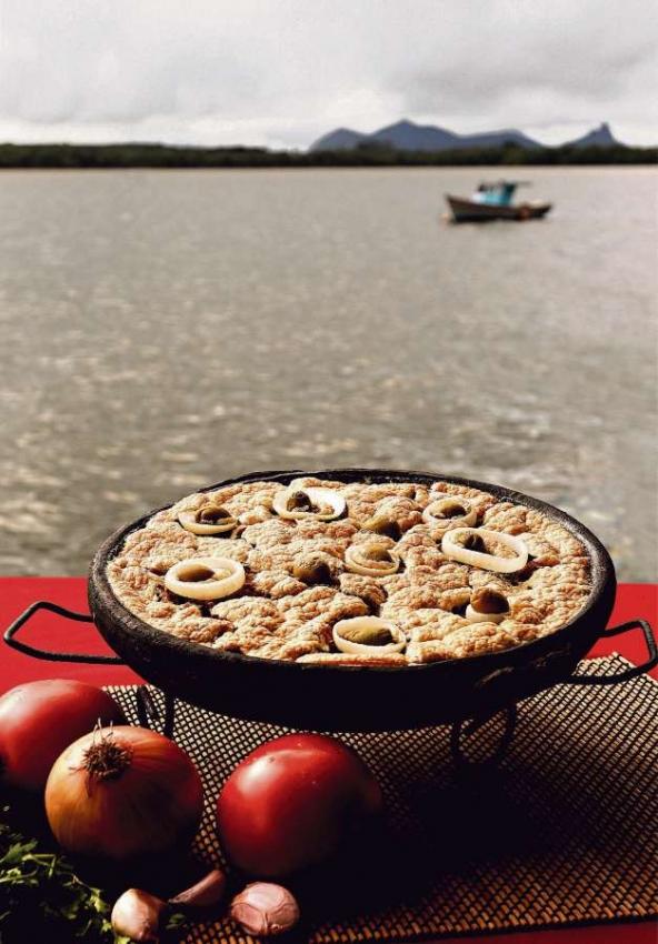 Torta capixaba é uma especialidade na Ilha das Caieiras. Crédito: Fernando Madeira