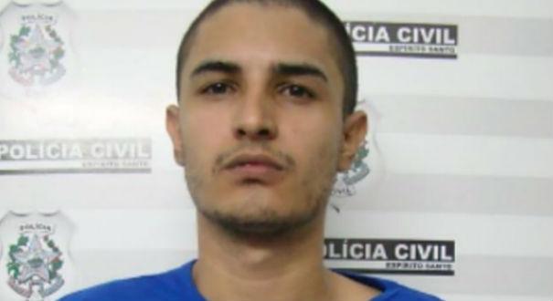 Cristopher Dias foi preso pela polícia. Ele é apontado como um dos suspeitos de participar do tiroteio no campo de futebol, em Boa Vista  . Crédito: Divulgação Polícia Civil