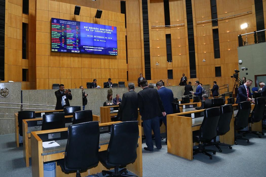 Data: 04/09/2019 - Sessão Ordinária da Assembleia Legislativa . Crédito: Tati Beling/Ales