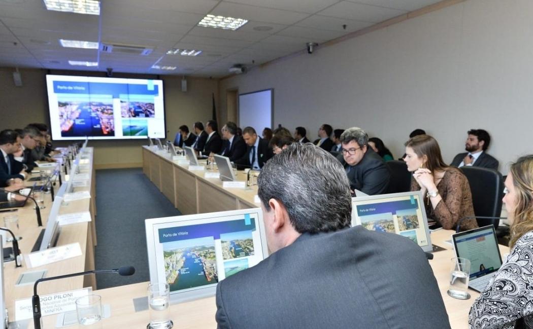 Primeira reunião sobre desestatização da Codesa, em Brasília. Crédito: Alberto Ruy/Minfra