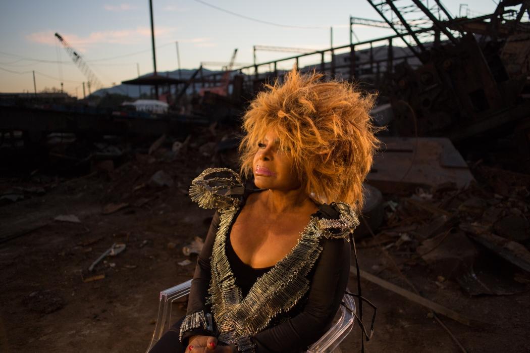 """Elza Soares em ensaio fotográfico para o disco """"Planeta Fome"""". Crédito: Marcos Hermes / Divulgação"""