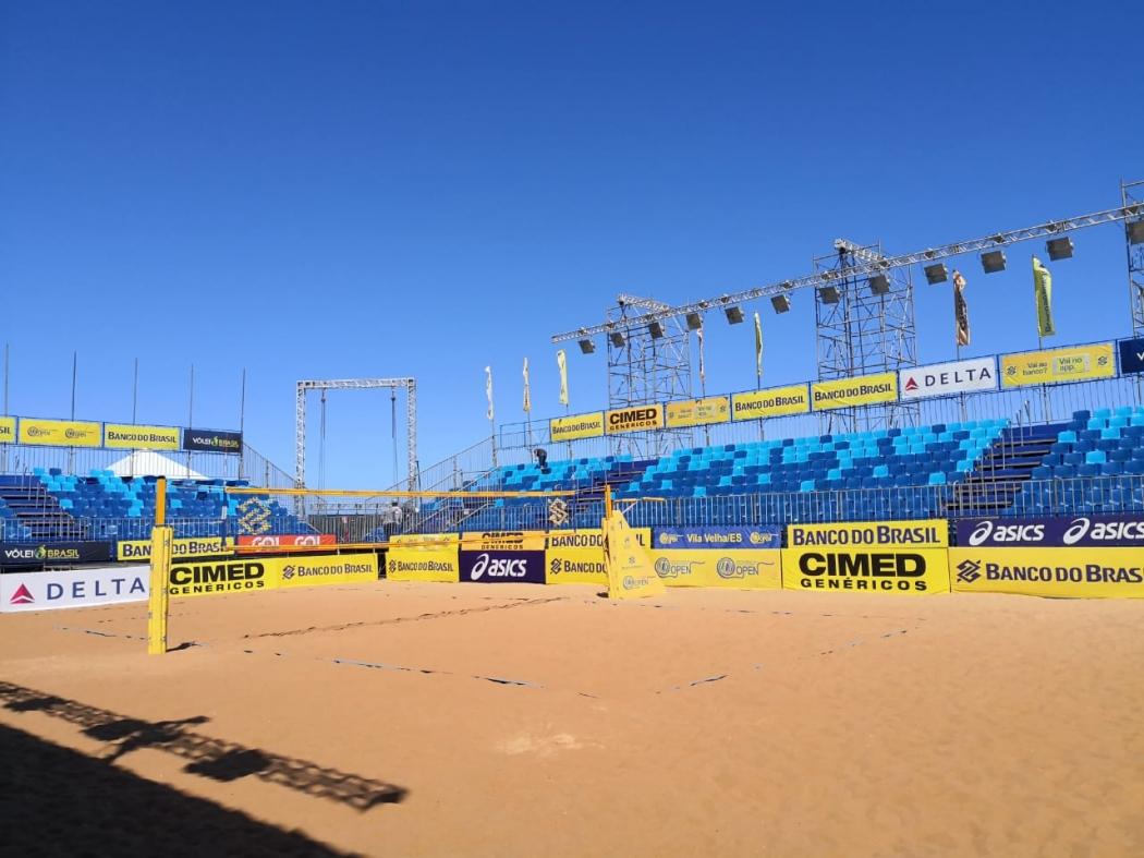 Arena principal que receberá jogos do Circuito Brasileiro em Vila Velha. Crédito: CBV/Divulgação