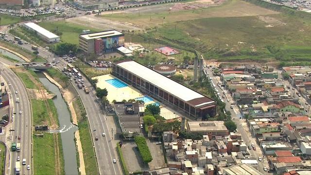 Centro Educacional Unificado (CEU) Aricanduva, em São Paulo - local onde o aluno esfaqueou o professor. Crédito: Reprodução/TV Globo