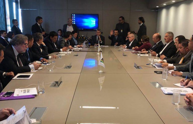 Reunião da Executiva Nacional do MDB, na última quarta-feira (18). Crédito: MDB/Divulgação