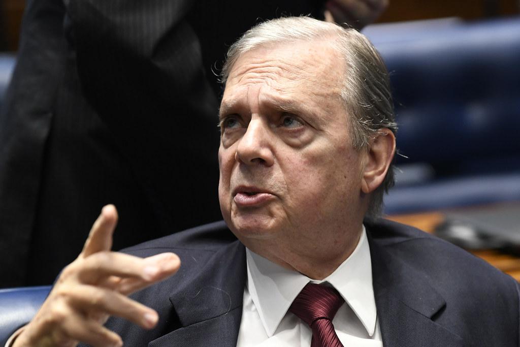 Senador Tasso Jereissati (PSDB-CE), que é relator da reforma da Previdência no Senado. Crédito: Jefferson Rudy
