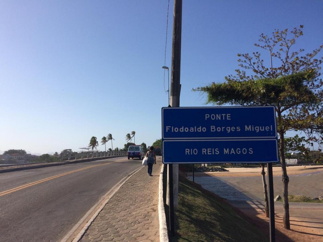Ponte Flodoaldo Borges Miguel, em Praia Grande, Fundão. Crédito: José Renato Campos