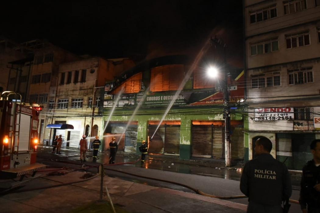 20/09/2019 - Incêndio na Vila Rubim, Vitória. . Crédito: Carlos Alberto Silva
