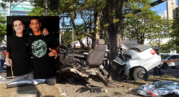Grave acidente tirou a vida de Lucas (à esquerda) e deixou Marcelo ferido. Crédito: