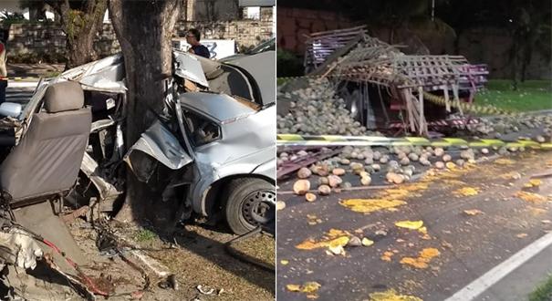 Jovem era amiga de vítima de acidente na Praia do Canto e de vítimas de acidente com caminhão de abóbora na BR 101. Crédito: Montagem | Gazeta Online