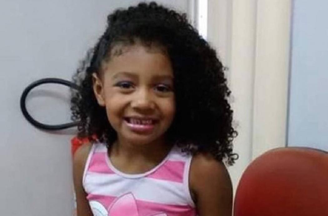Ágatha Félix, de 8 anos, foi morta durante operação policial no Complexo do Alemão, no Rio. Crédito: Acervo pessoal
