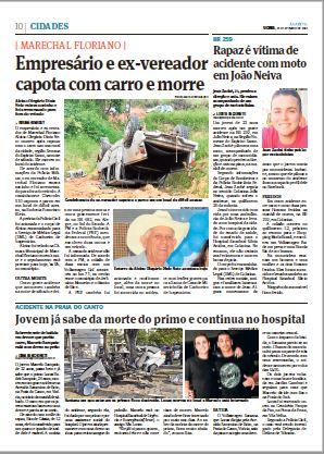 P. 10, 23/09/2019. Crédito: Jornal A Gazeta