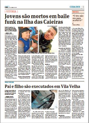 P. 11, 23/09/2019. Crédito: Jornal A Gazeta