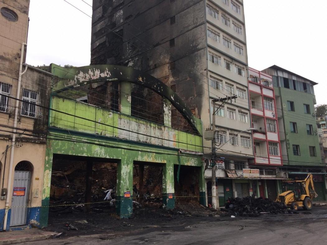 Loja de couros onde aconteceu um incêndio na Vila Rubim, em Vitória. Crédito: José Renato Campos