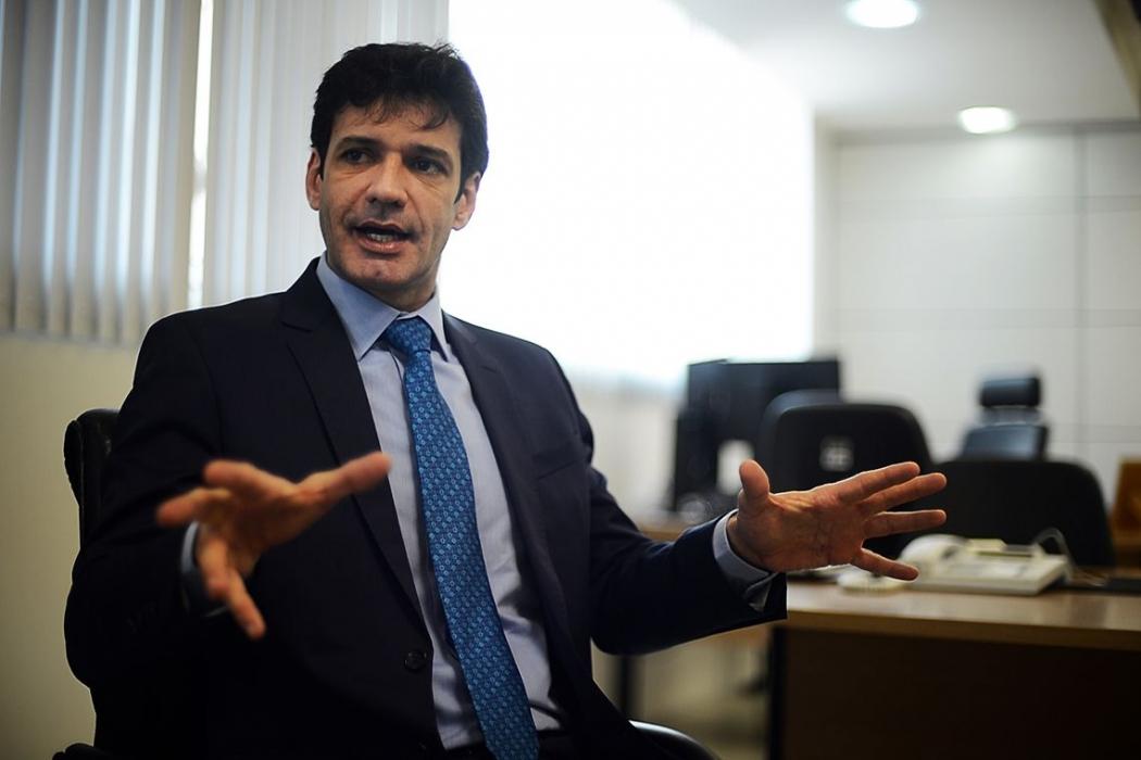 O  ministro do Turismo Marcelo Álvaro Antônio, concede entrevista à EBC. Crédito: Marcello Casal Jr