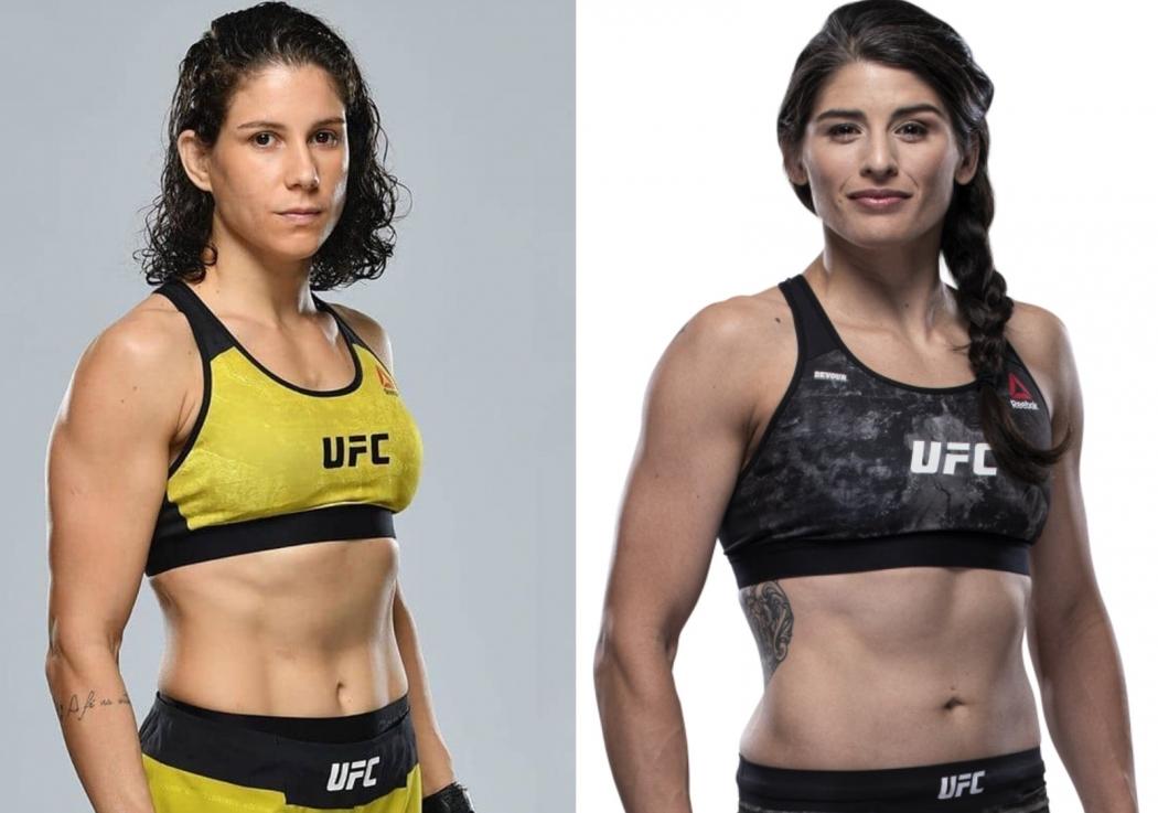 A capixaba Karol Rosa encara a americana Julia Avila no dia 26 de outubro, no UFC Cingapura. Crédito: UFC/Divulgação