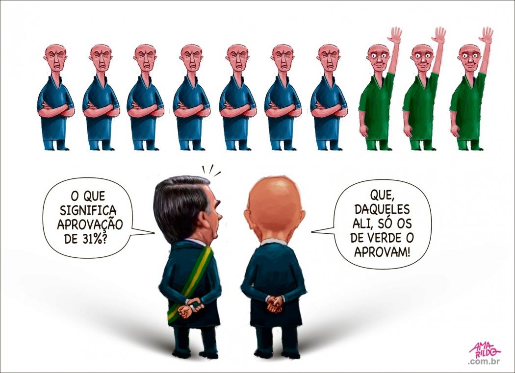Charge do Amarildo - 26/09/2019. Crédito: Amarildo