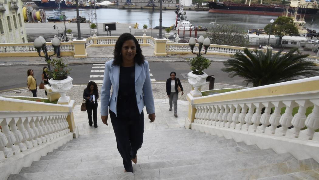 Jaqueline Moraes é a governadora em exercício. Crédito: Carlos Alberto Silva