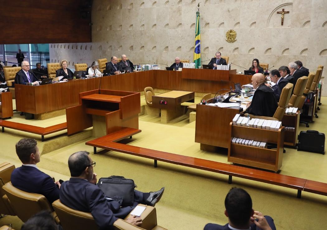 Ministros em sessão nesta quinta-feira (26). Crédito: Nelson Jr/STF