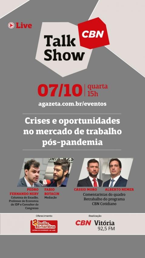 Talk Show CBN mercado de trabalho no Cotidiano. Crédito: Divulgação