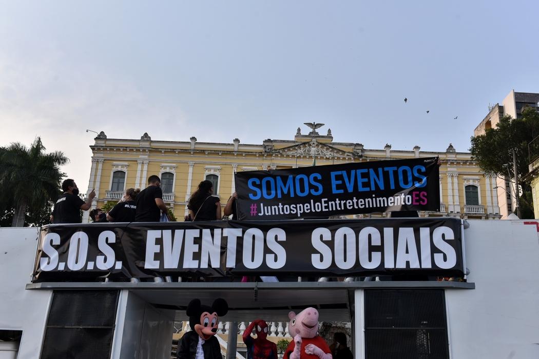 Carreata S.O.S. Eventos, ocorrida no dia 29 de setembro. Crédito: Fernando Madeira