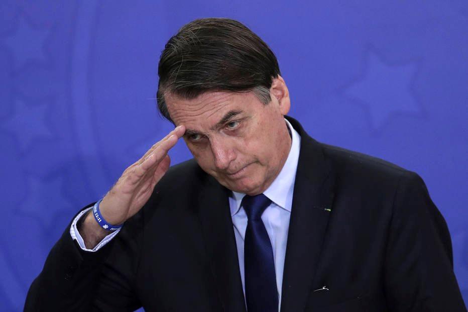 Jair Bolsonaro admiteque gostaria que o governofuncionasse commais agilidade. Crédito: Eraldo Peres/AP